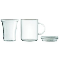 Glass Mug with Strainer